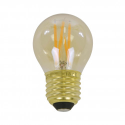 Filament LED žiarovka 84-63 Ø4,5cm Amber glass