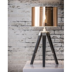 Stolová lampa 74-66 3-legged wood-metalic copper shade
